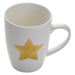 Bögre csillag dekorral, fehér