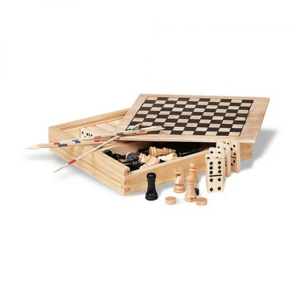 TRIKES 4 játék fadobozban , fa