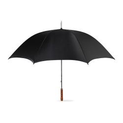 GRASSES Elegáns esernyő fa markolattal, fekete