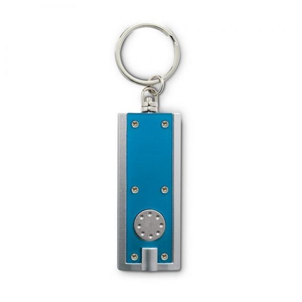 SIGNELITE Kulcstartó LED zseblámpával, áttetsző kék
