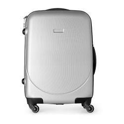 AZZURRA Kerekes bőrönd, ezüst