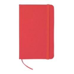 NOTELUX Csíkos A6-os füzet , piros