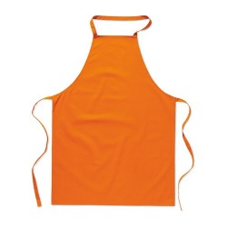 KITAB Pamut konyhai kötény, narancssárga