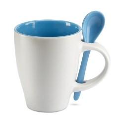 DUAL Csésze kiskanállal , kék