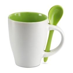 DUAL Csésze kiskanállal , zöld