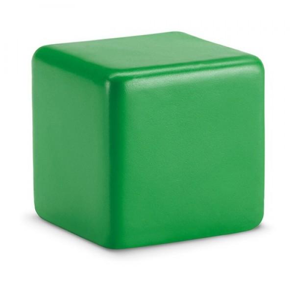 SQUARAX Stresszoldó kocka, zöld
