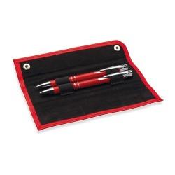 GEMELLO Toll és ceruza szett PU tokban, piros
