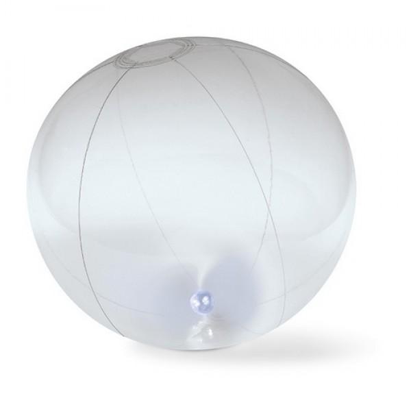 LIGHTY Felfújható strandlabda, átlátszó