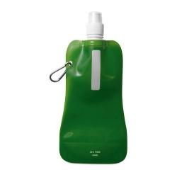 GATES Összehajtható vizes palack, áttetsző zöld