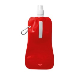 GATES Összehajtható vizes palack, áttetsző piros