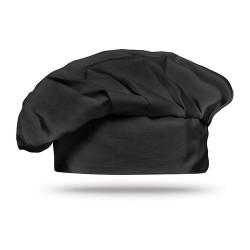 CHEF Pamut szakács sapka, fekete