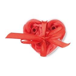 ROOS Szív alakú szappanvirág , piros