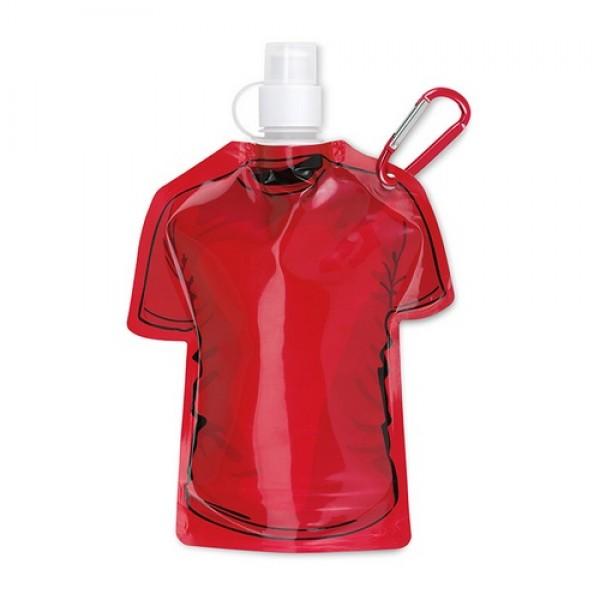 SAMY Póló alakú palack, piros