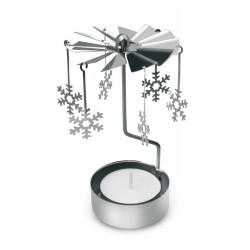 Karácsonyi dísz, fényes ezüst