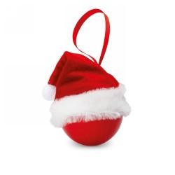 Mikulás karácsonyfadísz, piros