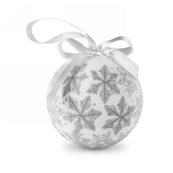 Karácsonyfadísz dobozban, ezüst