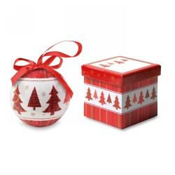 Karácsonyfadísz ajándékdobozban, többszínű