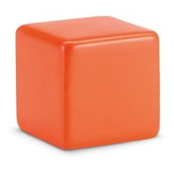 Squarax Kocka alakú stresszlabda, narancssárga