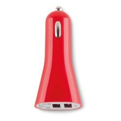 Lance USB autós töltő, piros