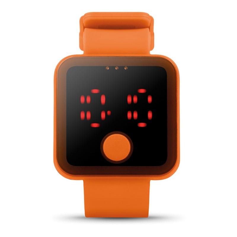Piros LED-es karóra, narancs