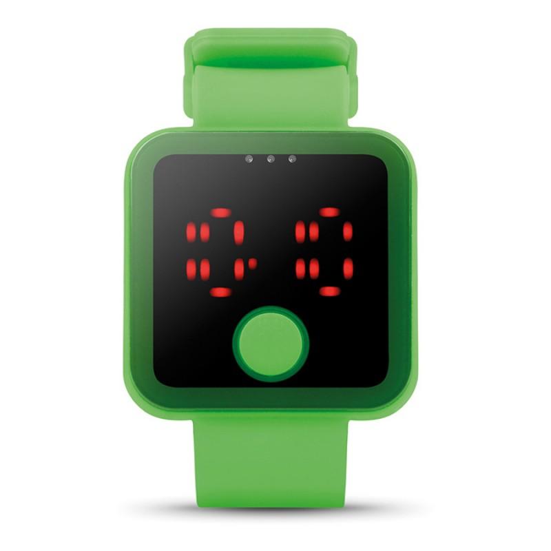 Piros LED-es karóra, neon zöld